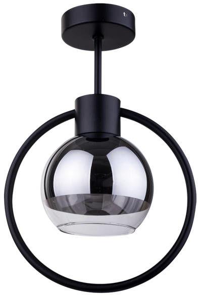 Lampa sufitowa plafon elipsa LINDA 1 PL czarny 31890