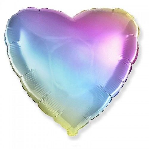 Balon foliowy Serce, tęczowe ombre