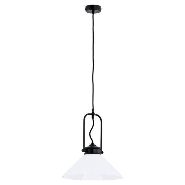 Lampa wisząca zwis MERIN czarny/biały śr. 30cm