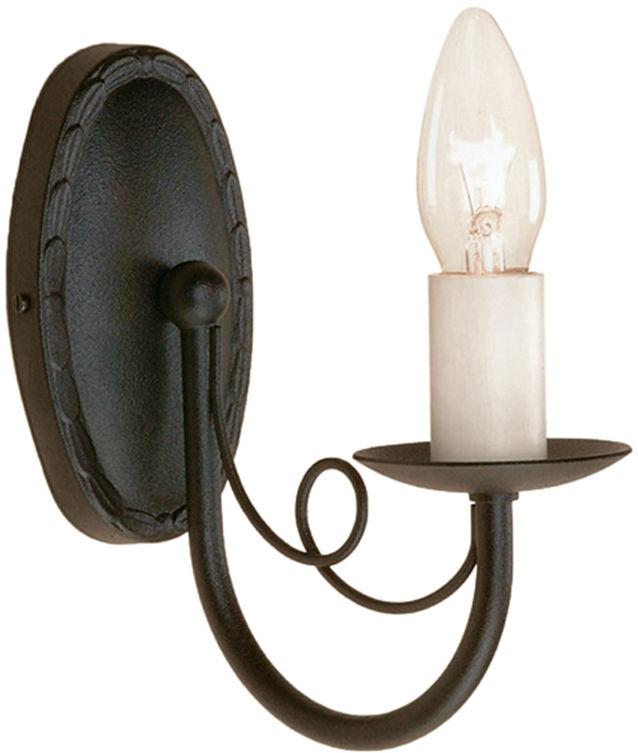 Kinkiet Minster MN1 BLK Elstead Lighting pojedyncza oprawa ścienna w klasycznym stylu