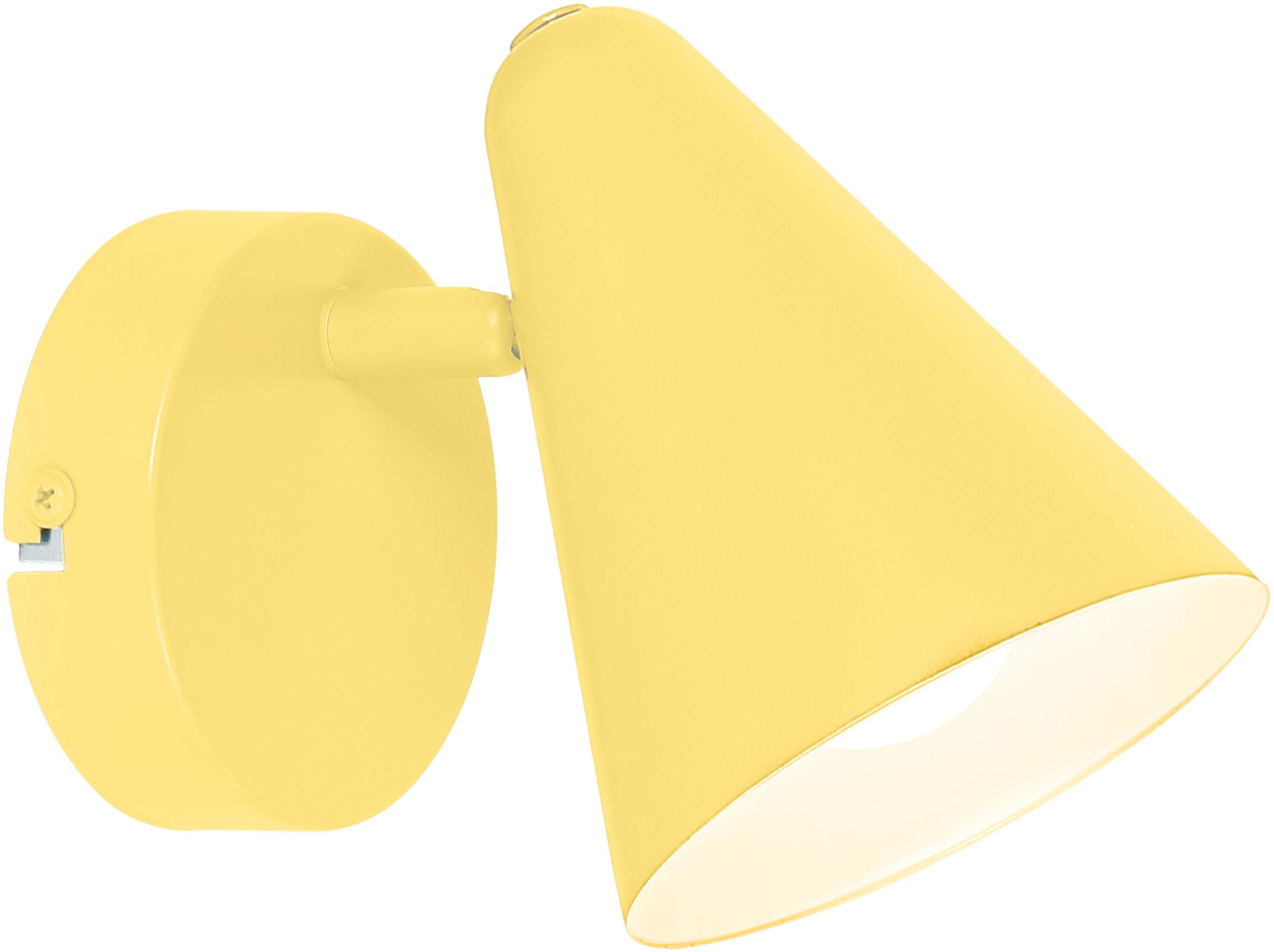Candellux AMOR 91-68774 kinkiet lampa ścienna metalowy klosz bananowy 1X40W E14 10cm
