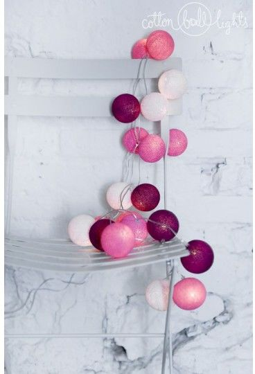 Kolorowe kulki LED kompozycja - Sweet pink