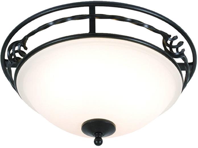 Plafon Pembroke PB/F/A BLK Elstead Lighting czarna oprawa w klasycznym sytlu