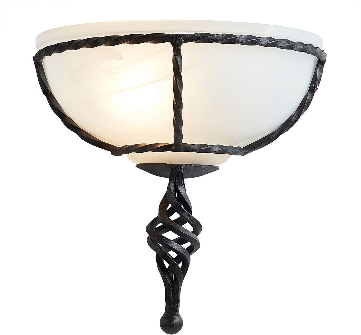 Kinkiet Pembroke PB/WU BLK Elstead Lighting czarna oprawa ścienna w klasycznym stylu