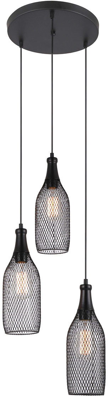 Lampa wisząca nowoczesna czarna Julienne MDM-2547/3 Italux
