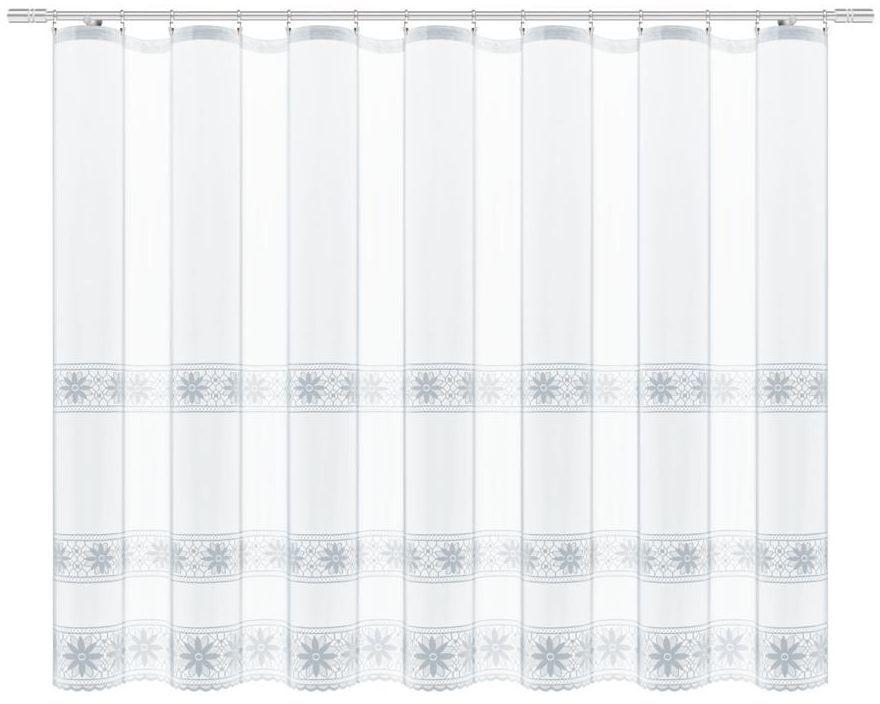 Firana dekoracyjna 160 x 300 cm biała na taśmie