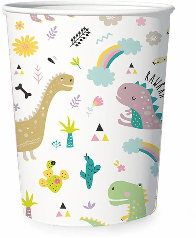 Kubeczki urodzinowe Dinozaury - 6 szt.