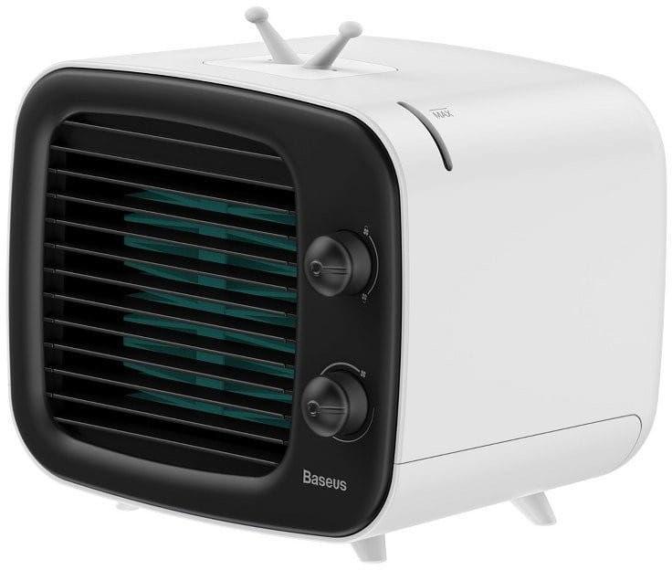 Mini klimatyzator Baseus Time wentylator, nawilżacz (czarno-biały)
