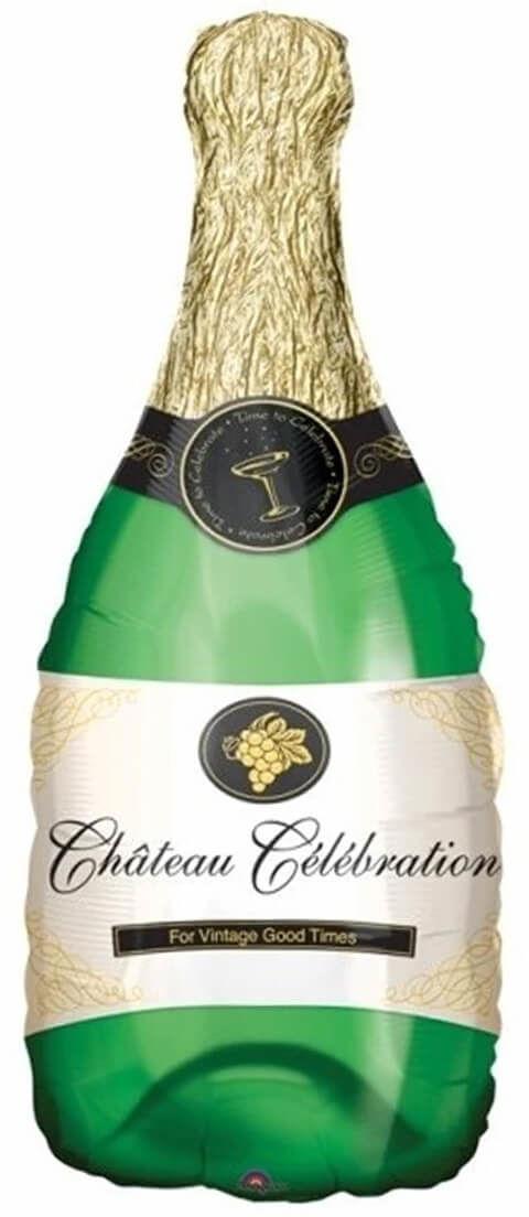 Balon foliowy Butelka szampana - 104 x 49 cm - 1 szt.