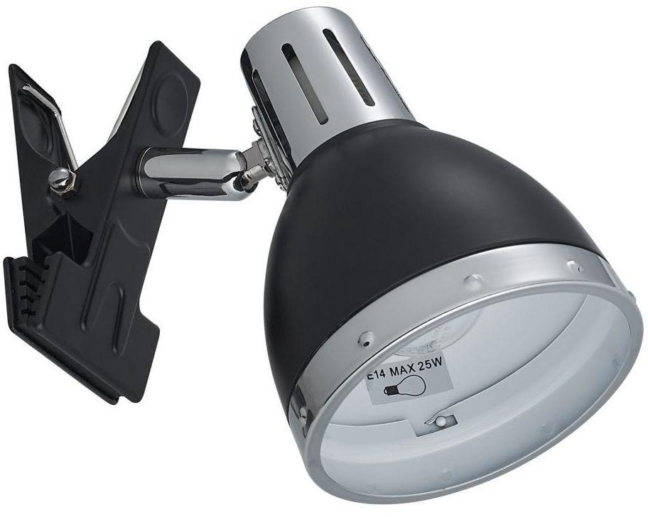 Lampka z klipsem KLAMMA czarna E14 ORIVA