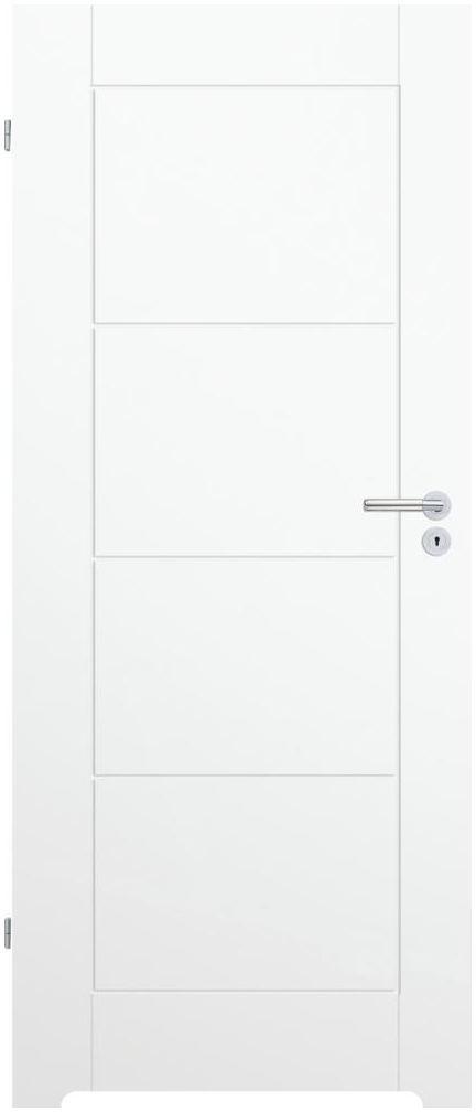 Skrzydło drzwiowe z podcięciem wentylacyjnym Trim W 80 Lewe Białe Porta