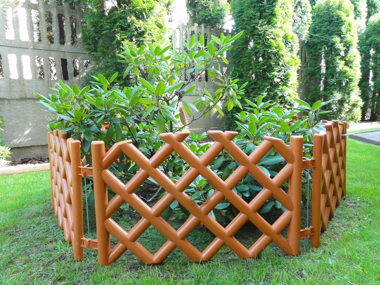 Płotek ogrodowy, kratka terakota
