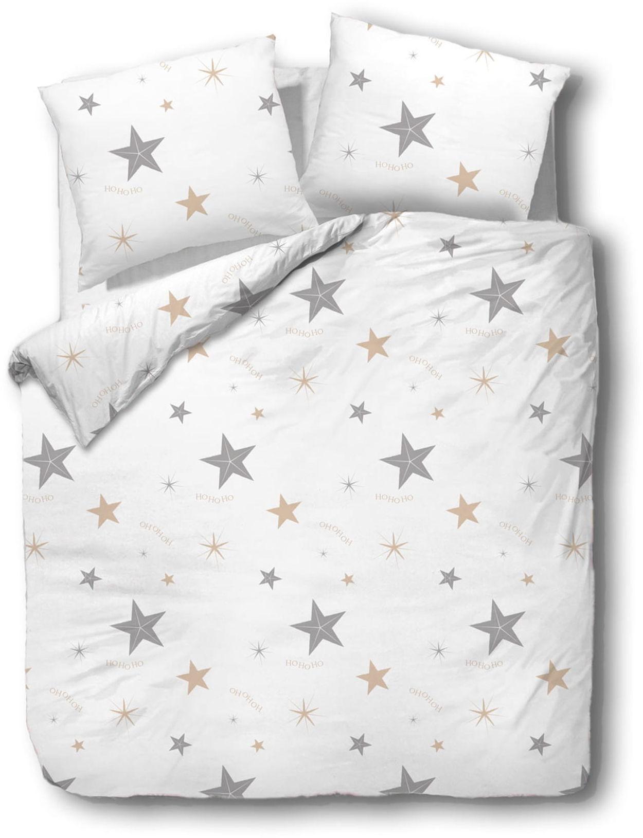 Pościel 220x200 bawełniana Komplet gwiazdy ho ho ho