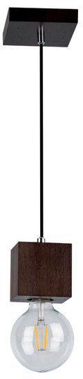 SPOTLIGHT lampa wisząca TRONGO SQUARE z drewna bukowego kolor orzech 7169176