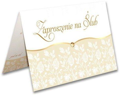 Zaproszenie na Ślub + koperta 1 sztuka zx9400