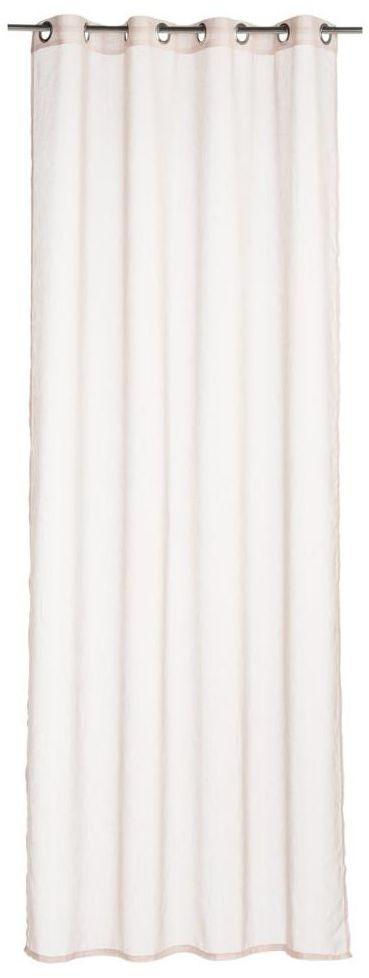 Firana na przelotkach Softy 140 x 260 cm różowa Inspire