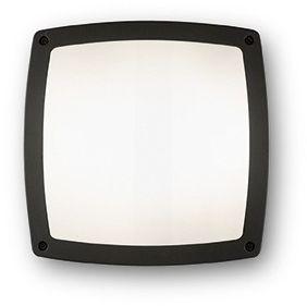Plafon Cometa PL3 082271 Ideal Lux zewnętrzna oprawa sufitowa w kolorze czarnym