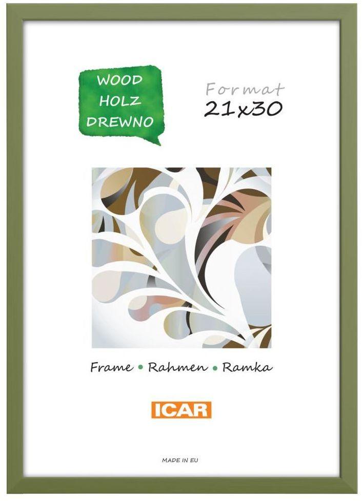 Ramka na zdjęcia Pinia 21 x 30 cm oliwkowa drewniana