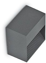 Kinkiet Down AP1 122045 Ideal Lux zewnętrzna oprawa ścienna w kolorze antracytu