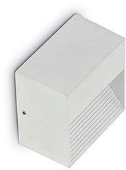 Kinkiet Down AP1 115382 Ideal Lux zewnętrzna oprawa ścienna w kolorze białym
