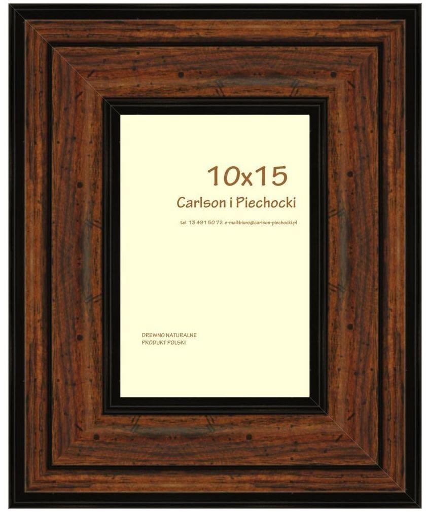 Ramka na zdjęcia Carre 10 x 15 cm orzech drewniana