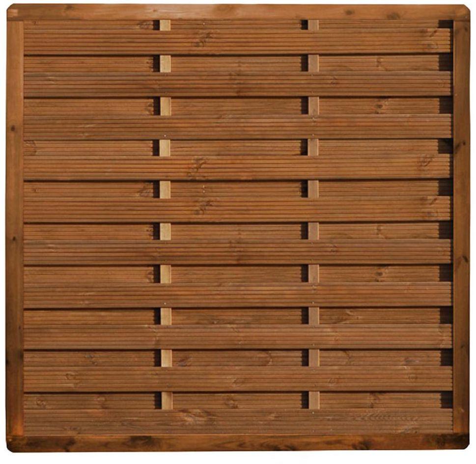 Płot szczelny 180x180 cm drewniany SUNRISE WERTH-HOLZ
