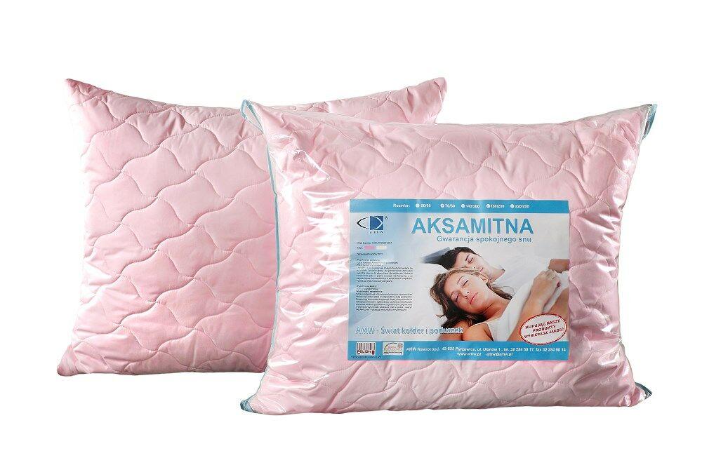 Poduszka Aksamitna 50x60 Róż AMW