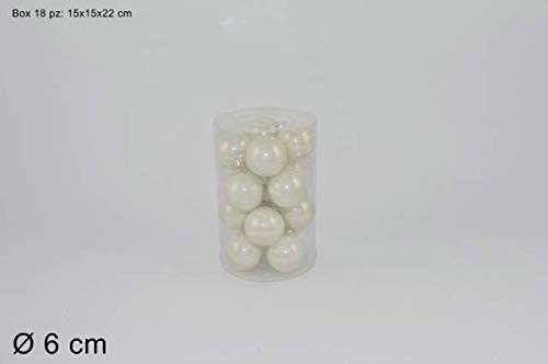 Dwa żelazne, perłowo-białe, 6 cm, 16 sztuk