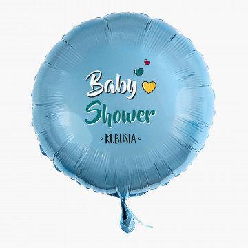 Baby shower chłopiec - Balon z helem - Koło