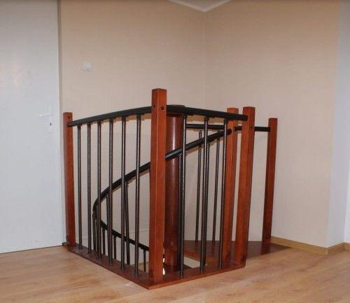 Balustrada metalowa do schodów kręconych CORA model Berlin