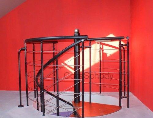 Balustrada metalowa do schodów kręconych CORA model Bawaria