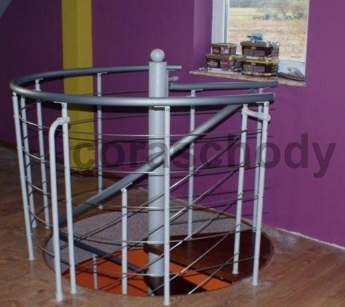 Balustrada metalowa do schodów kręconych CORA model Bawaria 02