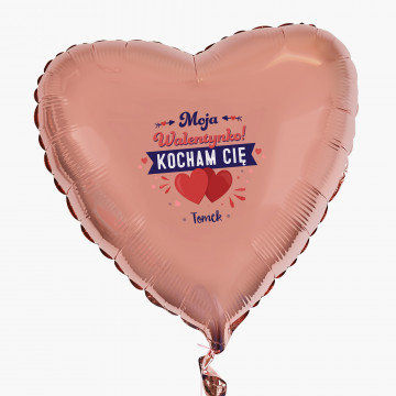 Moja walentynko - Balon z helem - Serce