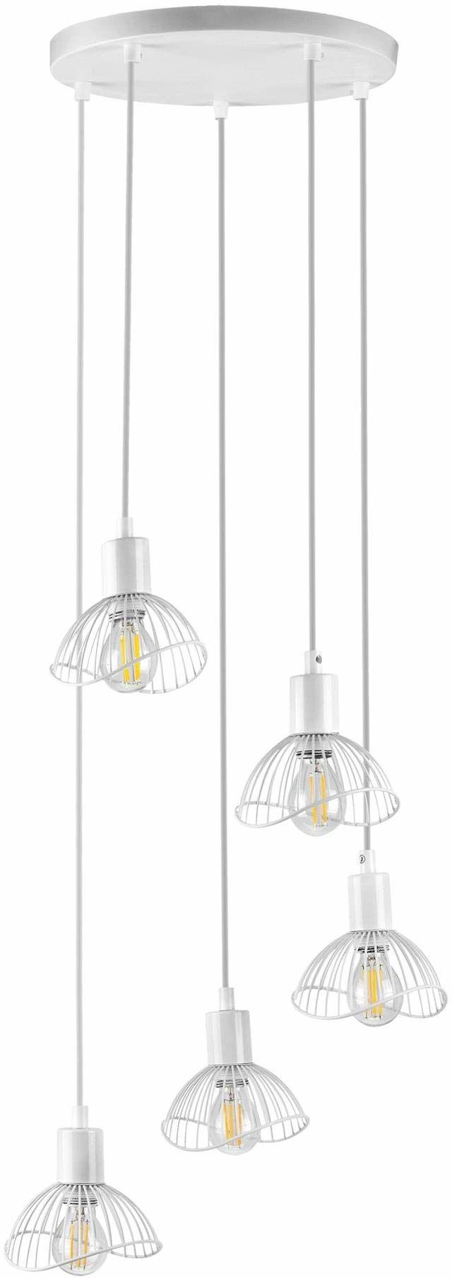 Activejet Aje-Holly 8 Whi Lampa ,Biały ,5 Żarówek
