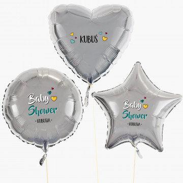 Baby shower chłopiec - Zestaw balonów z helem - Kształty