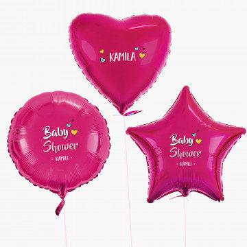 Baby shower dziewczynka - Zestaw balonów z helem - Kształty
