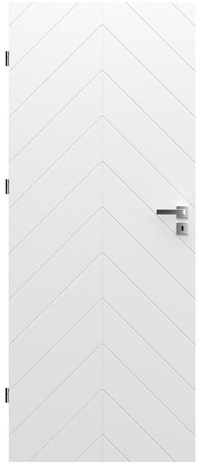 Skrzydło drzwiowe z podcięciem wentylacyjnym Trim J 80 Lewe Białe Porta