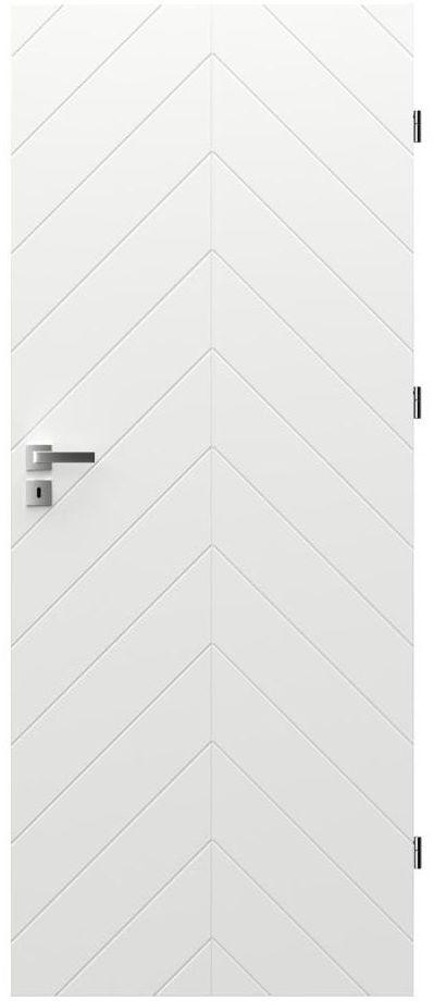 Skrzydło drzwiowe z podcięciem wentylacyjnym Trim J 80 Prawe Białe Porta
