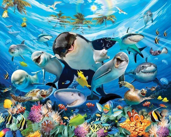 Tapeta 3d podwodna przygoda new