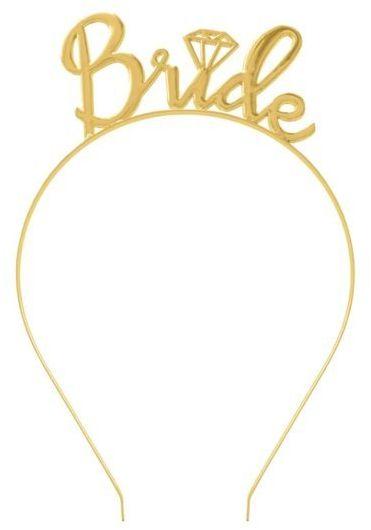 Opaska na Wieczór Panieński Bride złota 1 sztuka 511385