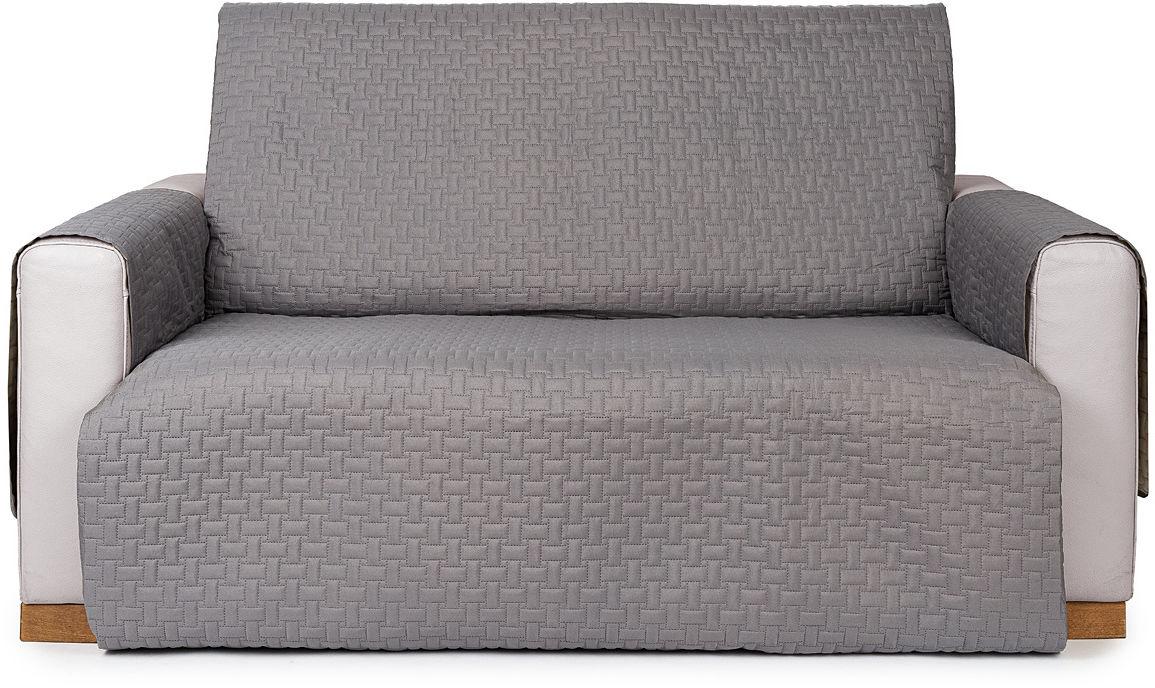 4Home Narzuta na kanapę 2-osobową Doubleface szara/jasnoszara, 140 x 220 cm, 140 x 220 cm