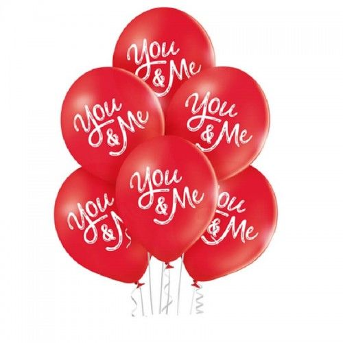 Balony You and Me, 6 szt.