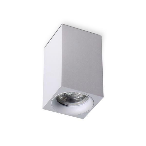 Tuba sufitowa kwadrat MANGO SQUARE biała 6x10cm
