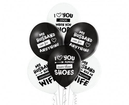 Balony dla męża Best Husband Ever, 6 szt.