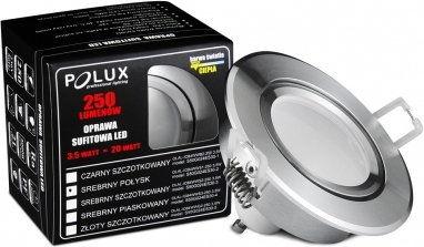 Oczko halogenowe SUN LED GU10 3,5W 20W 301192 Srebrny szczotkowany POLUX - wysyłka 24h (na stanie 15 zestawów)