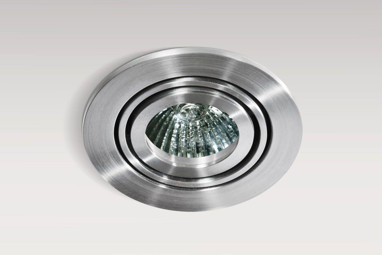 Oczko stropowe Carlo AZ0804 AZzardo okrągła oprawa w kolorze aluminium