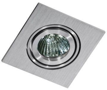 Oczko stropowe Editta AZ0806 AZzardo kwadratowa oprawa w kolorze aluminium