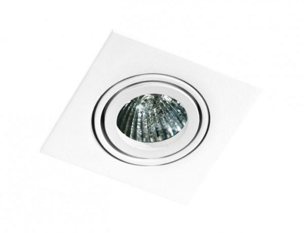 Oczko stropowe Editta AZ0807 AZzardo kwadratowa oprawa w kolorze białym