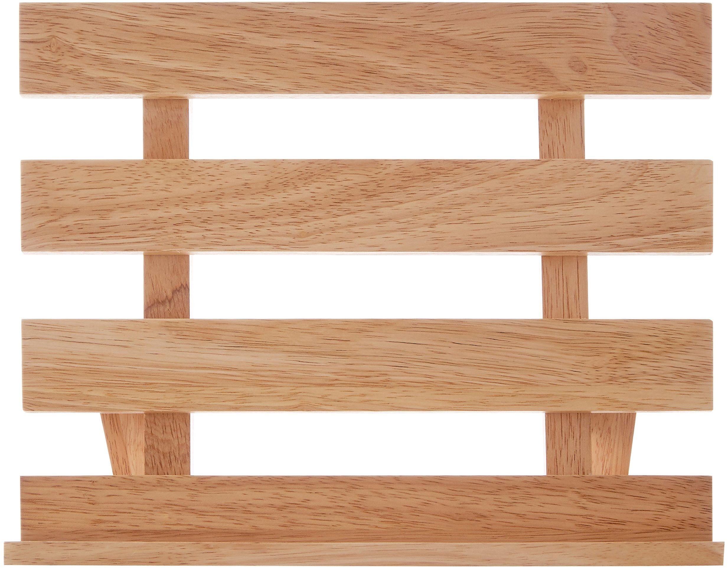 Premier Housewares stojak na książki kucharskie, drewno, naturalny, 17 x 29 x 24 cm