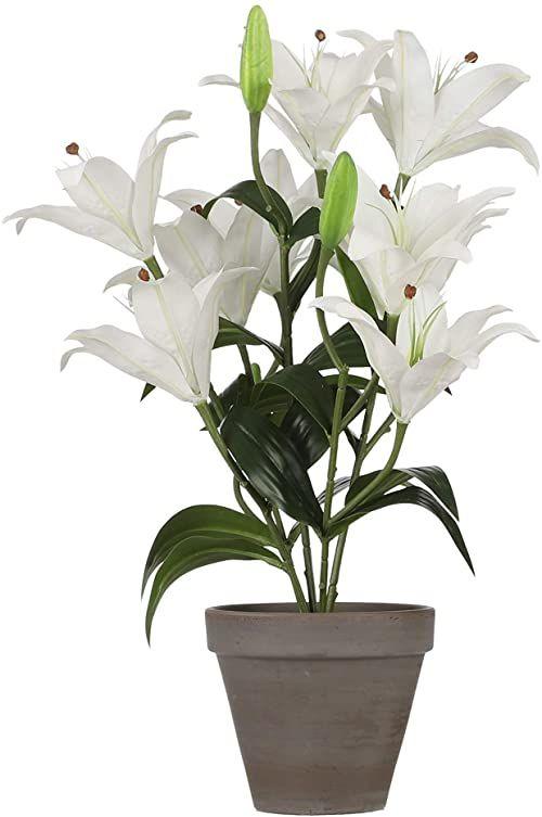 Mica Decorations Lilie tygrysa  sztuczna roślina  biała  wys. 47 cm